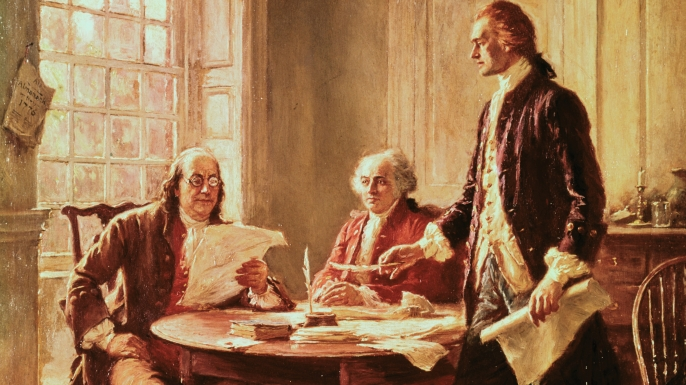 an overview of broadways version of the events and the declaration of independence in 18th century o