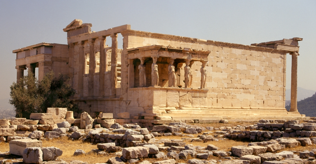 421 BCE, 406 BCE, the acropolis, athens, ancient greece, greek architecture, greece, column figures, caryatids, erechtheum
