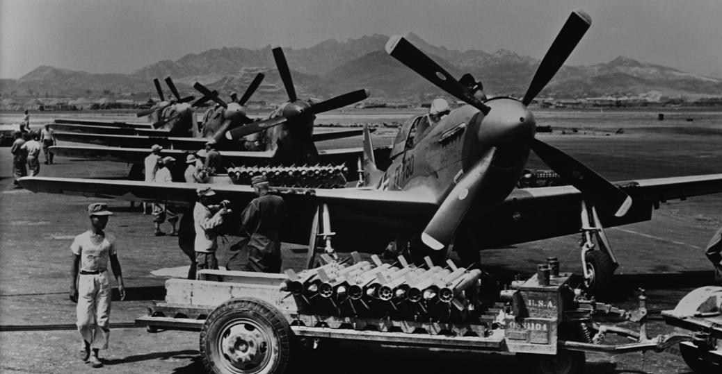 p-51 mustang, united nations, united nations aircraft, world war II-era propeller planes, the korean war