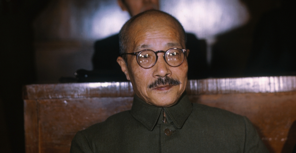 hideki tojo, prime minister of japan, 1941, 1944, japan's tripartite pact, germany, italy, world war II, political leaders, international military tribunal