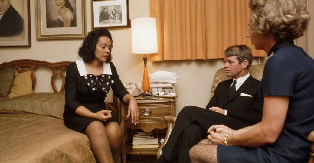 robert kennedy, ethel kennedy, coretta scott king, martin luther king jr., assassination of martin luther king jr., atlanta, georgia, 1968
