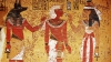 king tut, king tutankhamen, egyptian gods, anubis, nephthys, 1333 bce, 1323 bce, ancient egypt, egyptian relief painting
