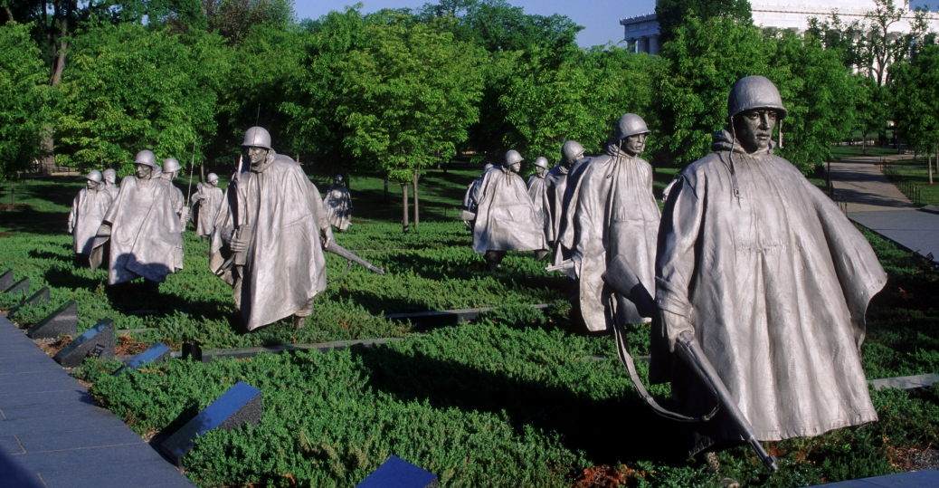 the korean war, korean war veterans memorial, american soldiers
