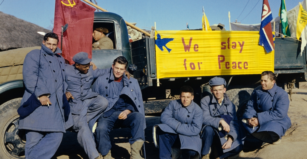 the korean war, american soldiers, we stay for peace