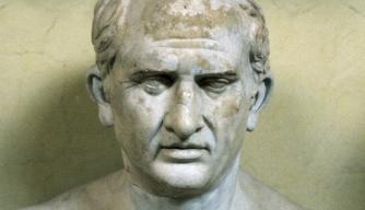 Bust of Roman statesman Marcus Tullius Cicero