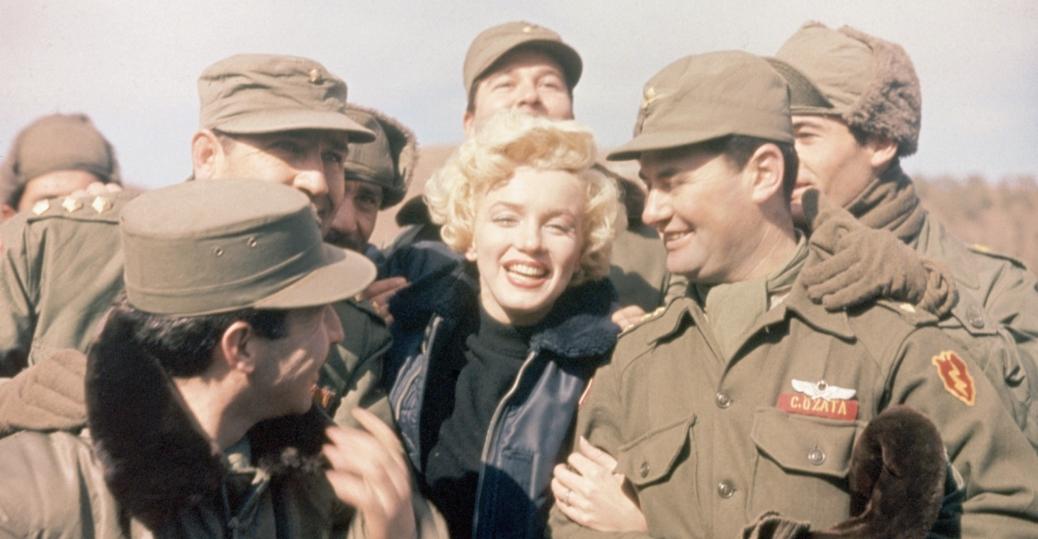 marilyn monroe, soldiers, korea, the korean war