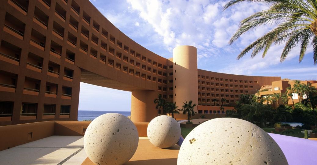 westin regina resort, courtyard, los cabos, baja california sur, mexico