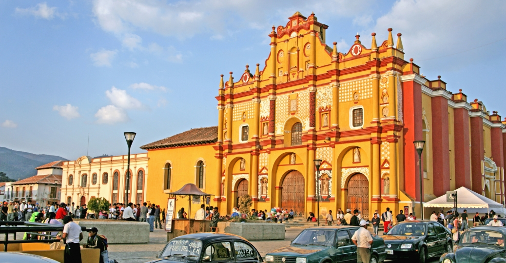 cathedral of san cristobal de las casas, chiapas, mexico