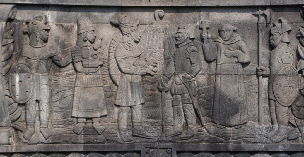 relief sculpture, gonzalo de sandoval, king of colima, mexico, 1521, colima