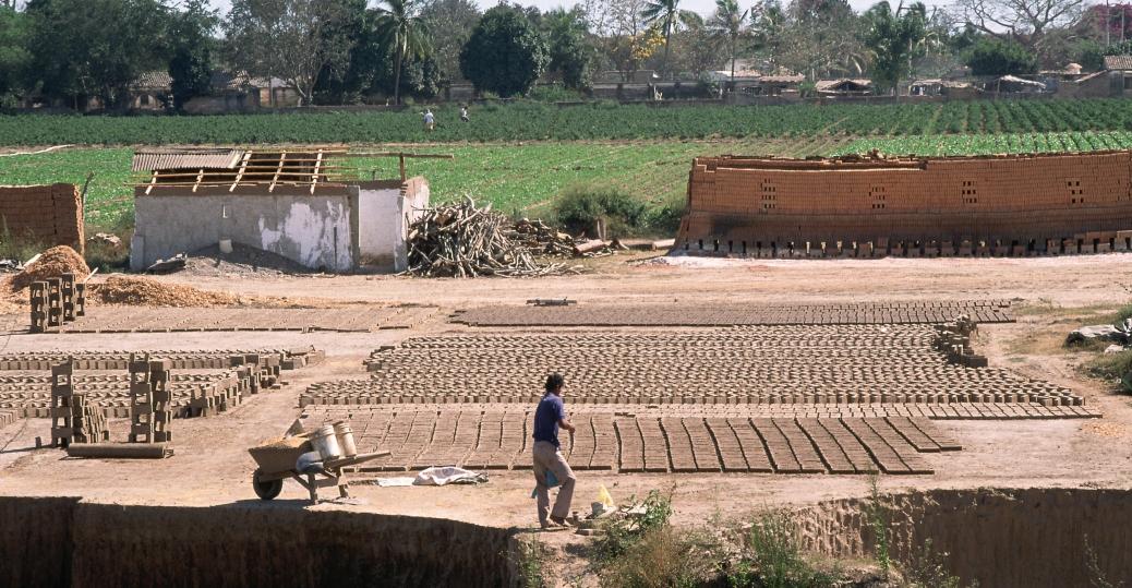 handmade bricks, brick factory, durango, mexico