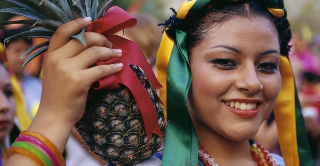 folk dancer, pineapple, guerrero, mexico