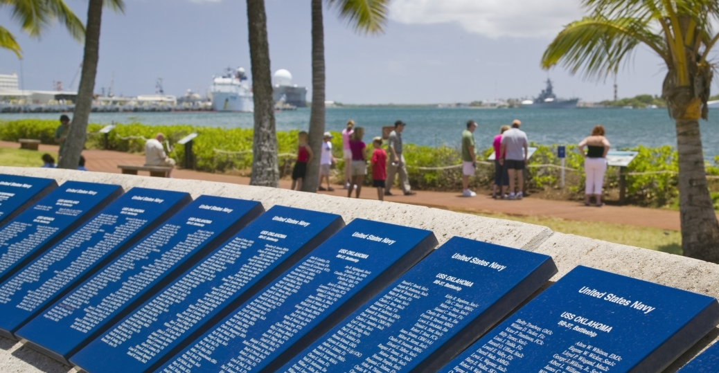 uss arizona, name plaques, uss arizona memorial vistor center, pearl harbor, pearl harbor attacks, world war II, pearl harbor memorial