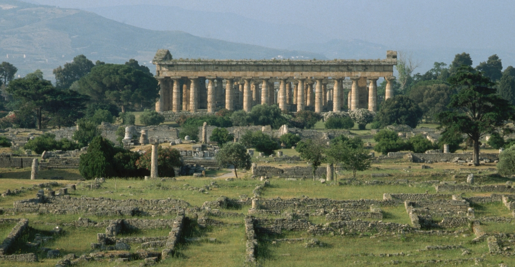 paestum, italy, ancient city, greek colonists, 6th century bce, greek architecture