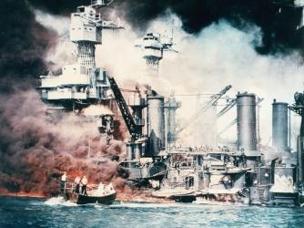 pearl harbor, 1941, japanese military, u.s. naval base, world war II, battleships