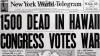 newspaper headlines, pearl harbor, pearl harbor attacks, world war II, new york world telegram, 1941