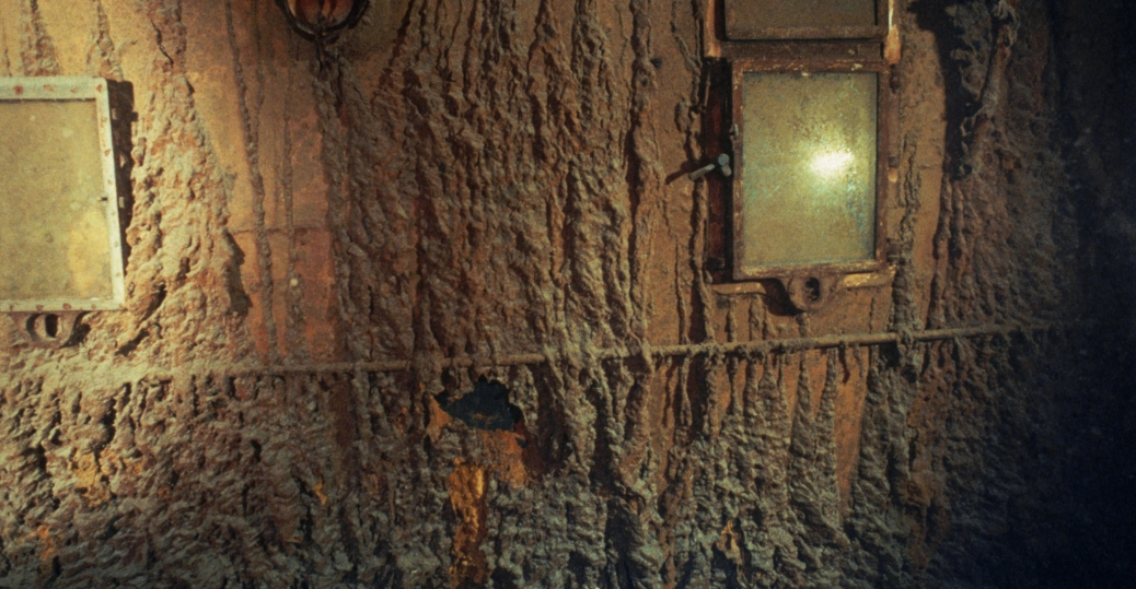 the hull, the titanic, the titanic wreckage, portholes of the officers' quarters, the boat deck