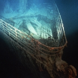 the titanic, bow of the titanic, 1985