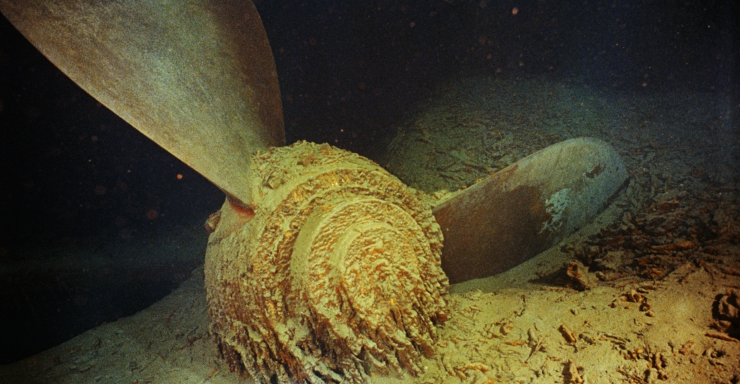 the titanic, the titanic's propeller, the shipwreck of the titanic