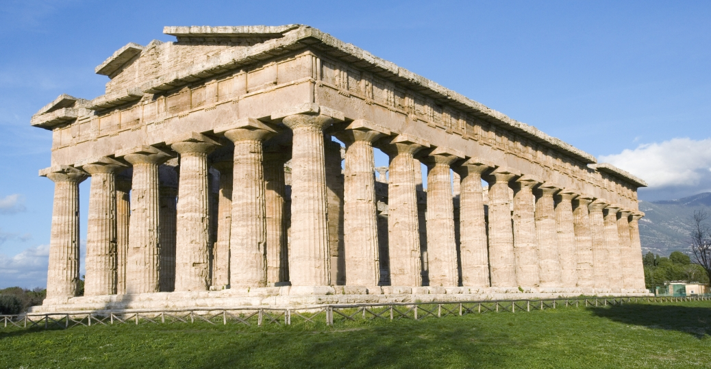 the temple of neptune, 460 bce, three doric temples, paestum, italy, greek architecture, ancient greece