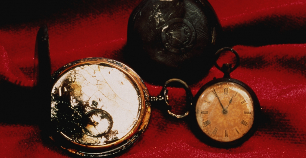 the titanic, the wreckage of the titanic, titanic passengers, pocket watches, titanic possessions