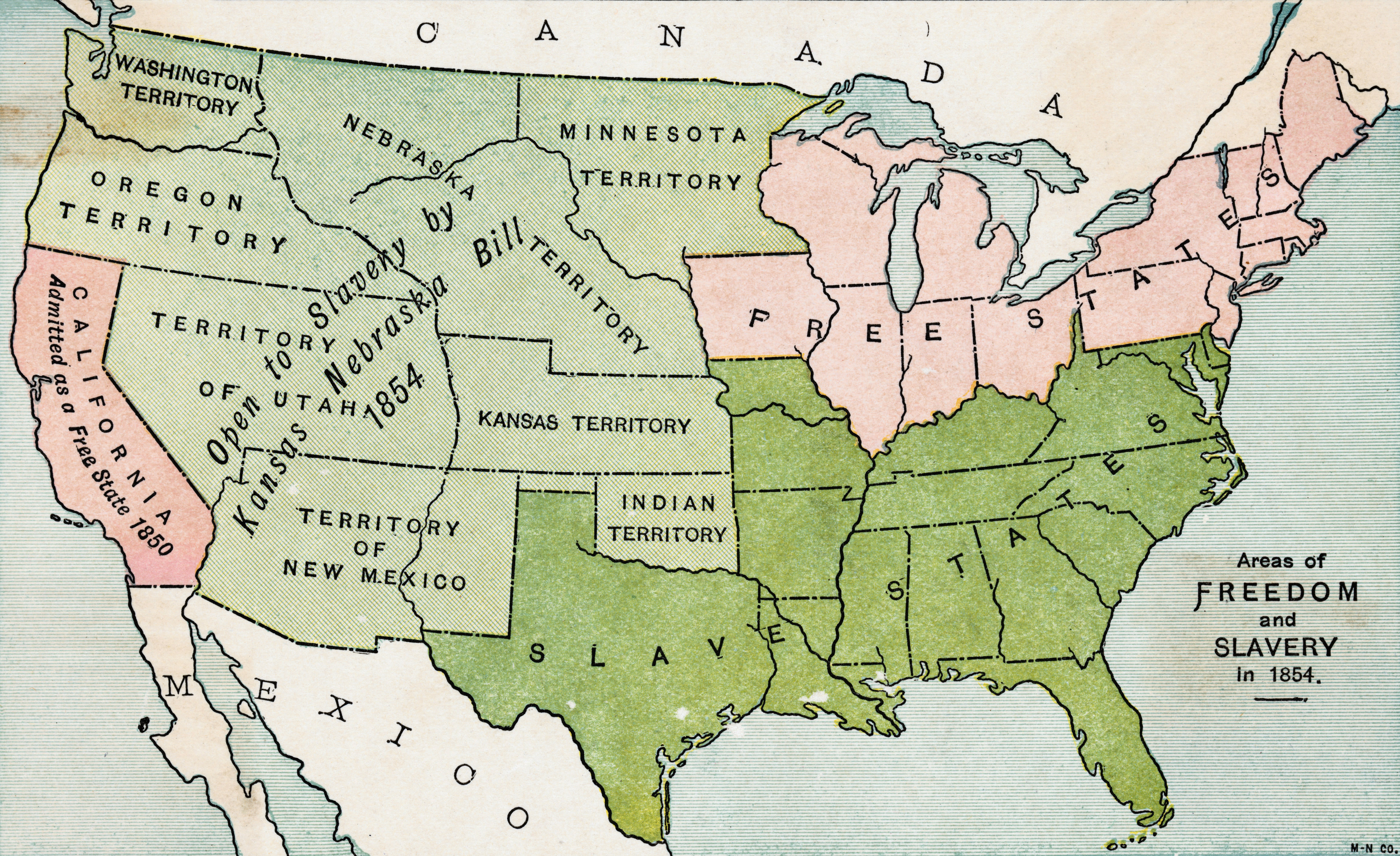 The Battle Over Slavery Pictures Slavery In America HISTORYcom - Nebraska on the us map