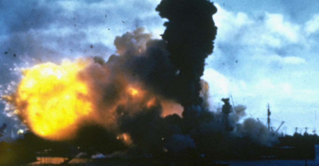 uss arizona, japanese bomb, pearl harbor, 1941, world war II