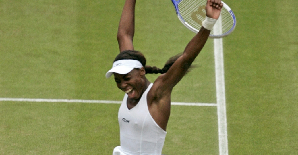 venus williams, semi final victory, maria sharapova, 2005 wimbeldon championships, lindsay davenport, black history, black women athletes