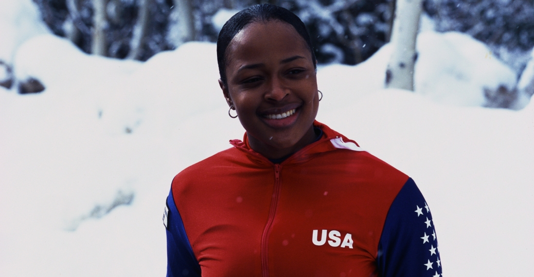 vonetta flowers, gold medal, 2002 winter olympics, black history, black women athletes, salt lake city
