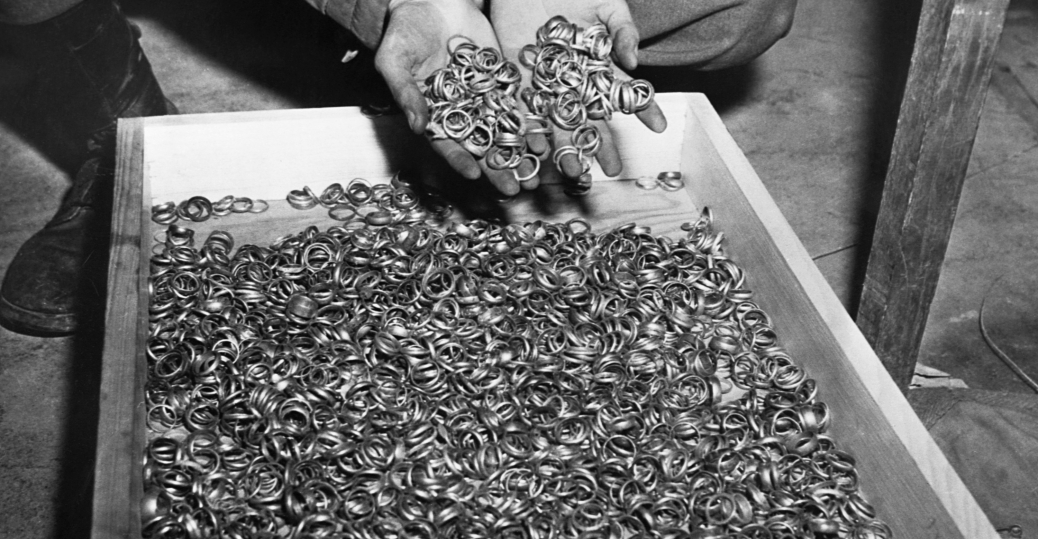 wedding rings, nazis, the holocaust, concentration camps, watches, precious stones, eyeglasses, gold fillings, buchenwald, germany, world war II, 1945, holocaust victims