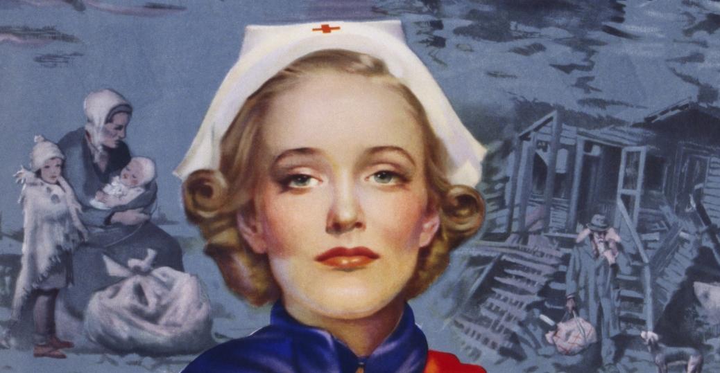 american red cross, world war II, recruitment poster