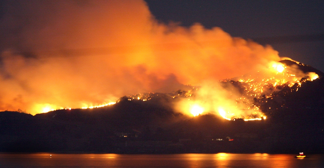 2008, angel island, immigration, wildfire, san francisco bay, san francisco