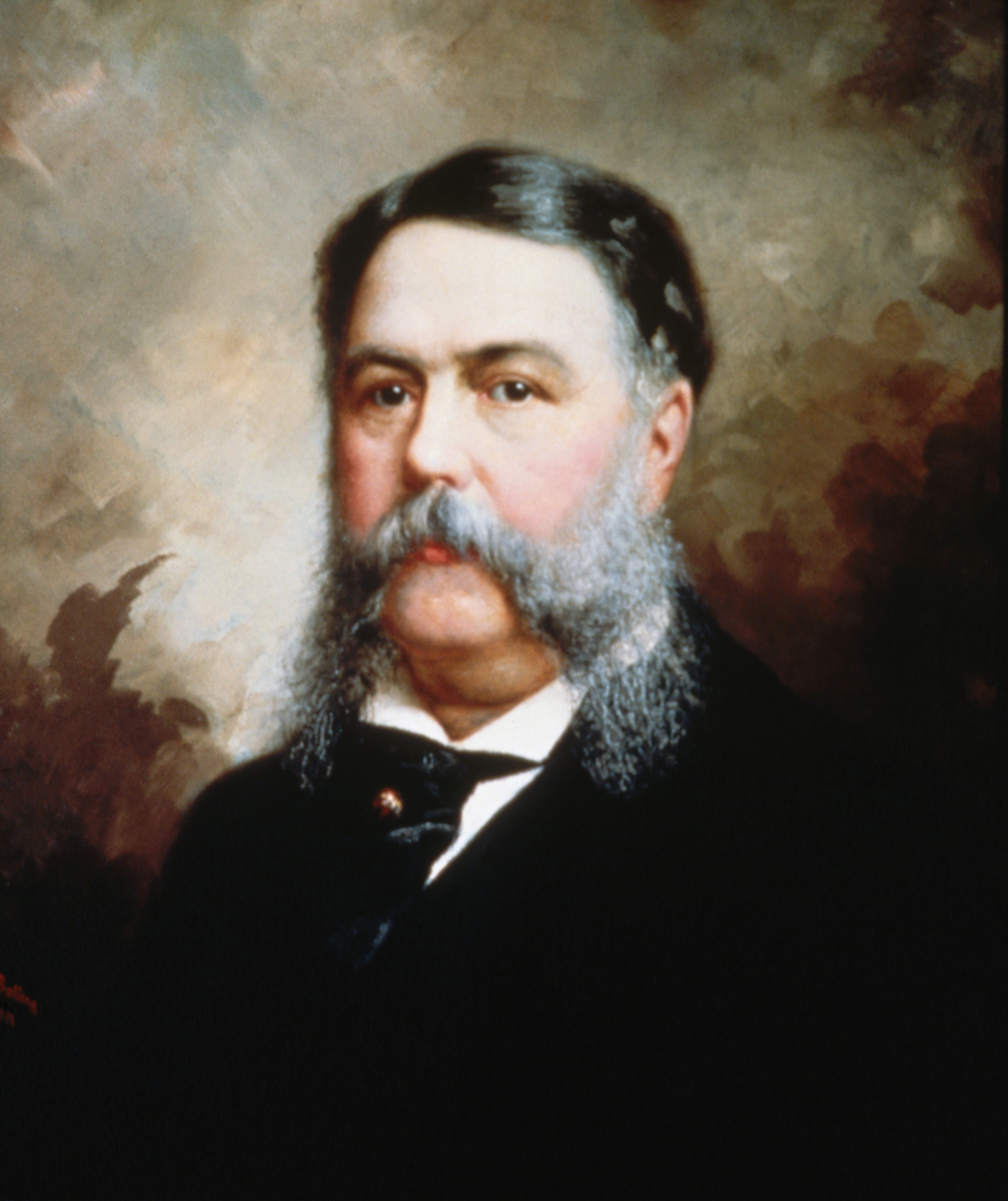 Painted portrait of chester alan arthur 2 civil war to for Presidents and their home states