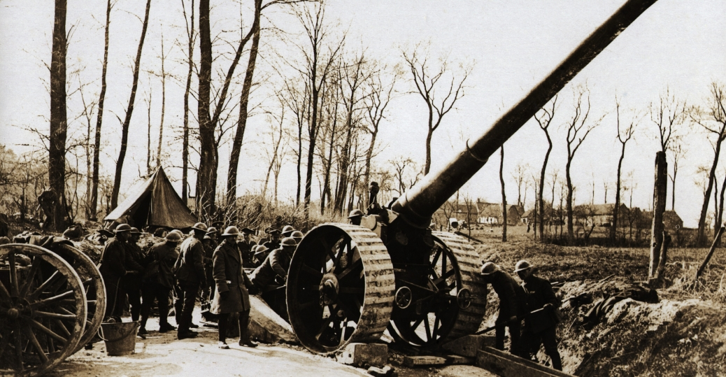 british big gun, machine guns, trench warfare, world war I, world war I technology