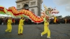 lion dance, paris, france, chinese new year, chinese new year traditions, holidays