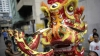 lion dance costume, lion dance, celebratory parade, chinatown, metro manila, chinese new year, holidays