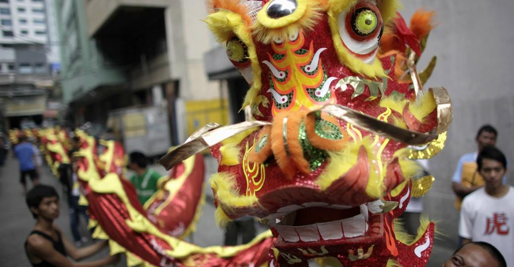lion dance costume, lion dance, celebratory parade, chinatown, metro manila, chinese new year, holidays