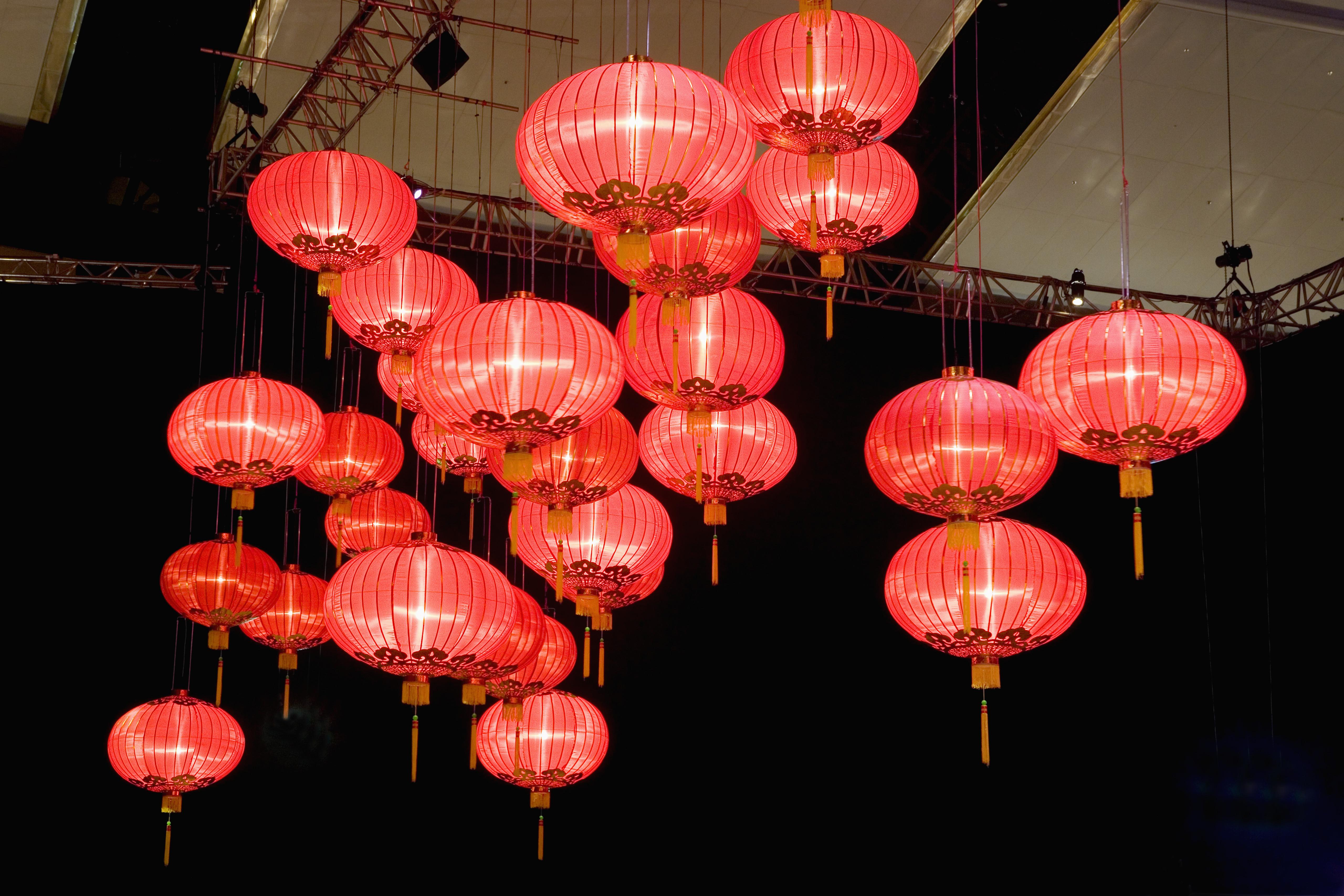red lanterns hong kong china chinese new year holidays - Chinese New Year Lantern