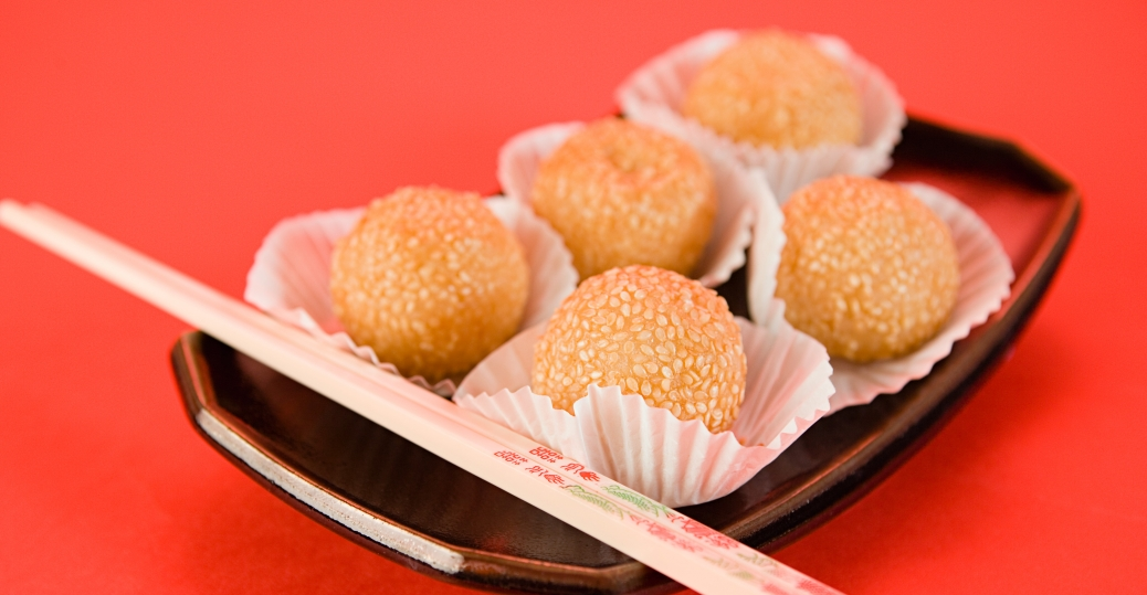 sesame rice balls, traditional food, new years traditions, chinese new year, holidays