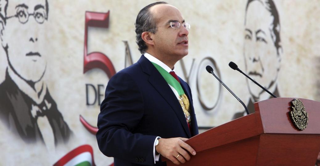 felipe calderon, mexico's former president, cinco de mayo ceremony