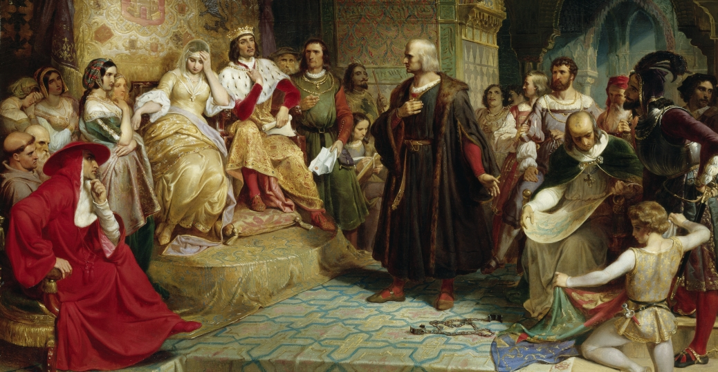 king ferdinand, queen isabella, christopher columbus, columbus day