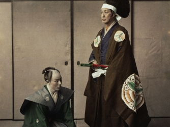 japanese actors, feudal lord, servant, feudal japan, daimyo