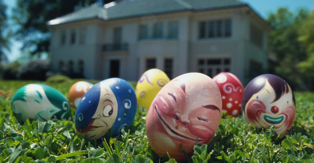 william joyce, hand painted easter eggs, easter