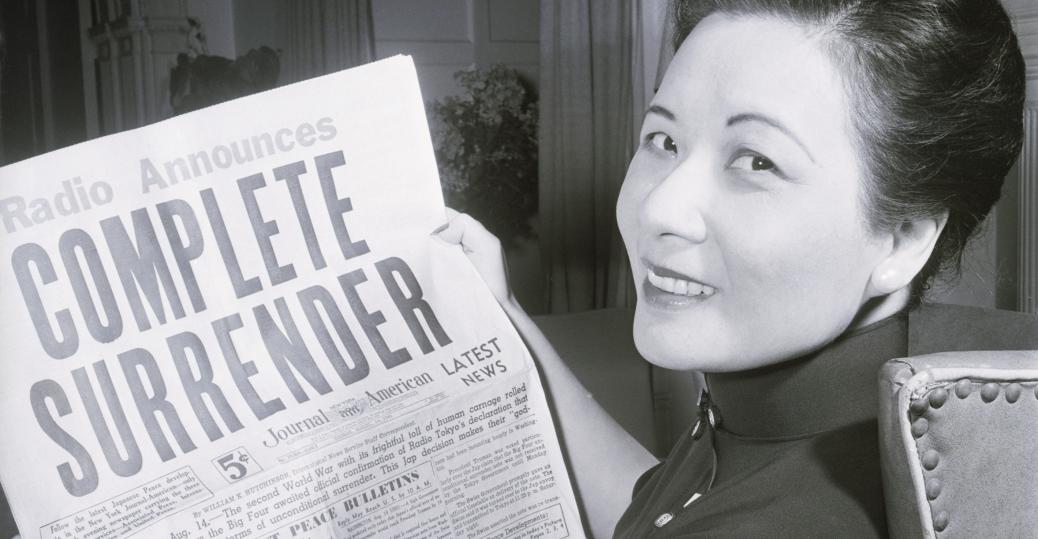 mme chiang kai-shek, generalissimo chiang kai-shek, first lady of the republic of china, surrender of japan, v-j day, world war II, end of world war II