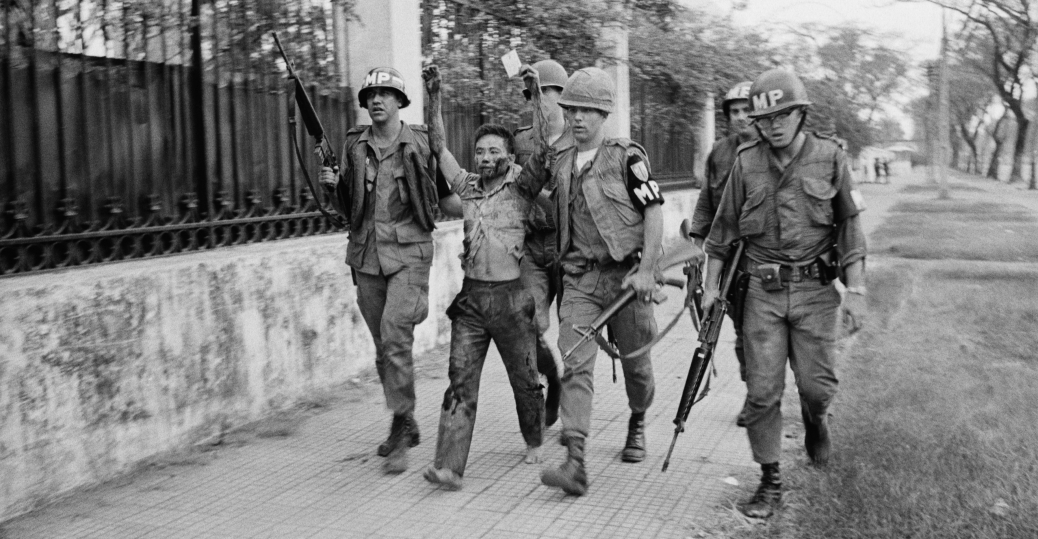 viet cong guerrilla, u.s. embassy, south vietnamese government buildings, saigon, the vietnam war, tet offensive