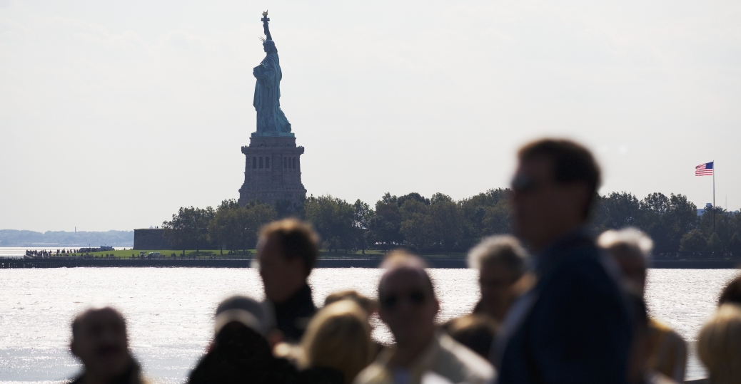 new york harbor, the statue of liberty, ellis island, immigration