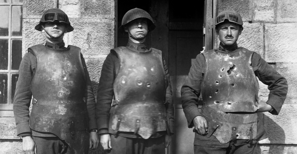 soldiers, u.s. army ordnance department, body armor, firing test, fort de la peigney, langres, france, world war I, world war I technology