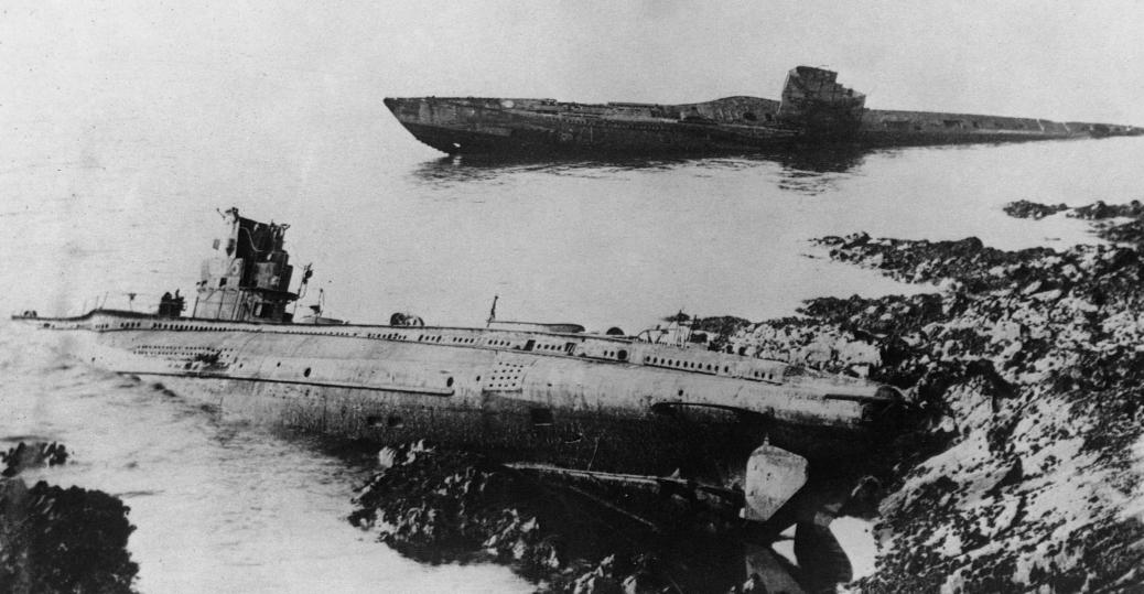 u-boats, german u-boats, the great war, world war I, world war I technology, cornish coast, falmouth, england
