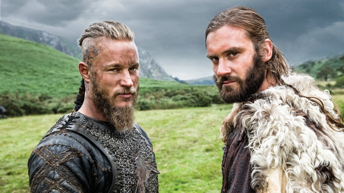 Travis Fimmel as Ragnar and Clive Standen as Rollo