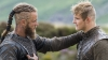 Travis Fimmel as Ragnar and Alexander Ludwig as Bjorn