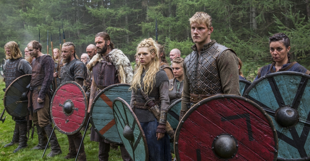 Travis Fimmel as Ragnar, Clive Standen as Rollo, Katheryn Winnick as Lagertha